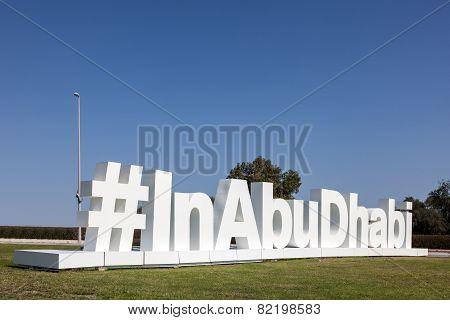 inabudhabi Twitter Hashtag Sculpture