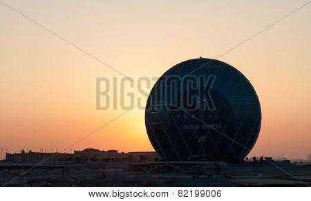 Circular Building At Sunset, Abu Dhabi