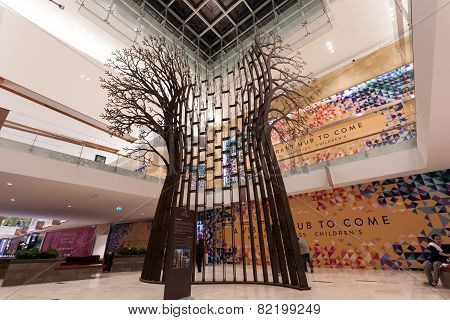 Tree Sculpture in Yas Mall, Abu Dhabi