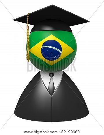 Brazil college graduate concept for schools and education