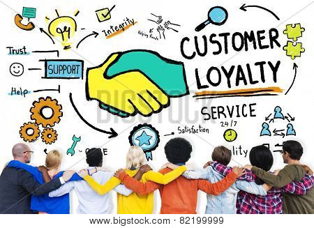 Customer Loyalty Service Support Care Trust Casual Concept