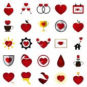 stock photo of soulmate  - The 25 Vector Love Heart Illustration Set - JPG