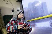 pic of tram  - Portrait of a boy in the tram  - JPG