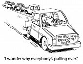 picture of radioactive  - Cartoon of car with sign on it that says  - JPG