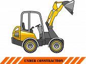 picture of skid  - Detailed illustration of skid steer loader - JPG