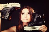 picture of teenagers  - Women loves shoes teenage fashion concept  - JPG