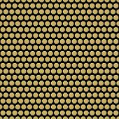 stock photo of octagon  - Geometric fine abstract  pattern with golden octagons - JPG