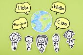 picture of french culture  - Learning Speaking Foreign Languages Concept with Hello - JPG