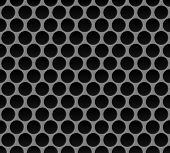 pic of metal grate  - Vector illustration of Metal round grid seamless pattern - JPG