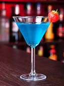 foto of curacao  - Russian Night cocktail with blue curacao - JPG