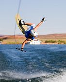 Man Wakeboarding At Lake Powell 13