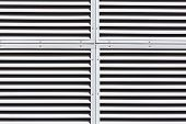 foto of louvers  - Metallic gray slanted louvers as abstract industrial background - JPG