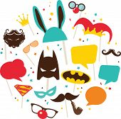 picture of masquerade mask  - mask and costumes for  photo booth - JPG