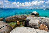 picture of virginity  - Stunning beach with unique huge granite boulders - JPG