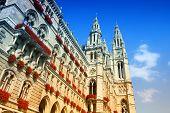 stock photo of city hall  - City hall in Vienna Austria - JPG