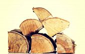 picture of wood pieces  - Stack of bright wood pieces - JPG