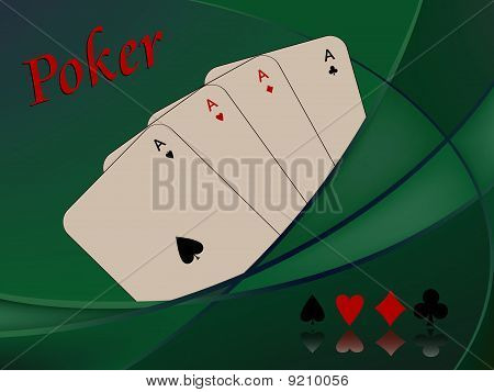 Poker Cards Composition