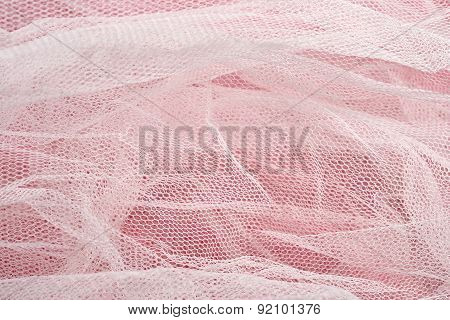 Texture Of White Tulle