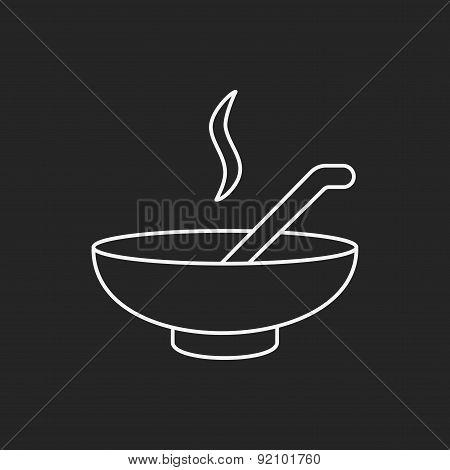 Soup Line Icon