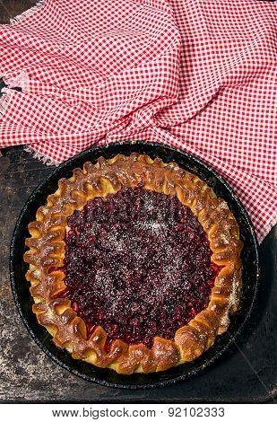 Open Pie With Cowberries