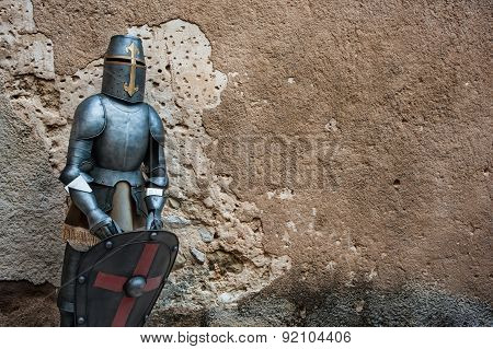 Medieval knight armour background