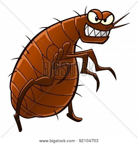 Cartoon Flea, Animal Parasite.