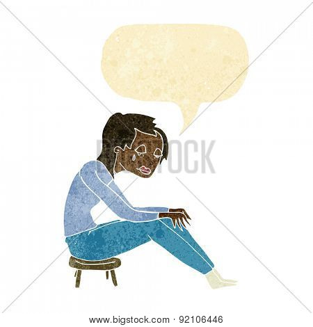 cartoon crying woman