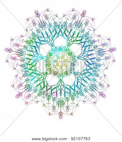 Abstract round lace pattern. Vector illustration, EPS 10
