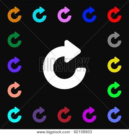 Upgrade, Arrow Icon Sign. Lots Of Colorful Symbols For Your Design. Vector