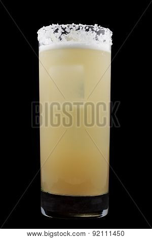 Salty Dog is a drink that contains gin or vodka and grapefruit juice in a salt-rimmed glass