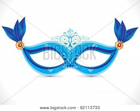 Abstract Artistic Blue Mask