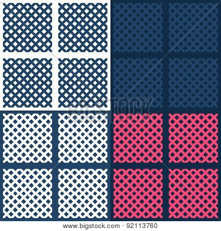 Simple geometrical irregular basket texture