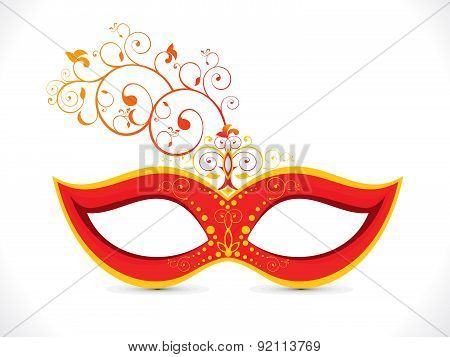 Abstract Artistic Floral Red Mask