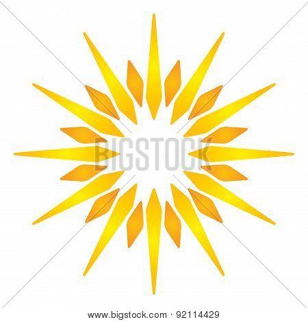 Artistic Orange Sun Illustration