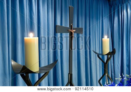 Candles In Mortuary