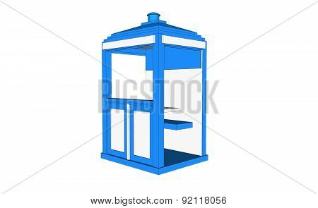 Blue Vintage Guardhouse