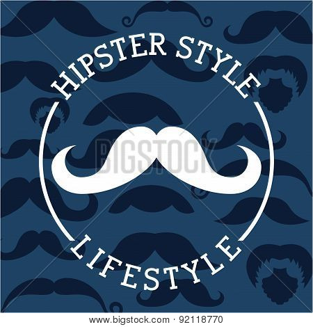 hipster design over blue  background vector illustration