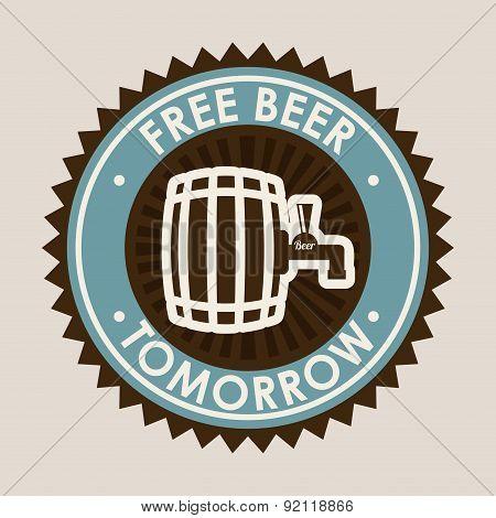 beer design over gray background vector illustration