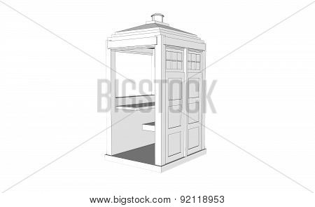 White Vintage Guardhouse