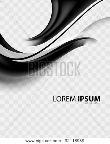 elegant wave flow bend black checkered elements business background eps10 vector