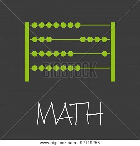 Math With Abacus Design Banner And Background Eps10