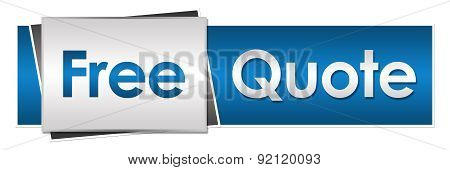 Free Quote Blue Grey Horizontal