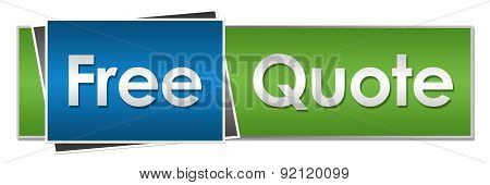 Free Quote Blue Green Horizontal