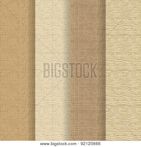 Set Of 4 Seamless Textures - Rough Fabric