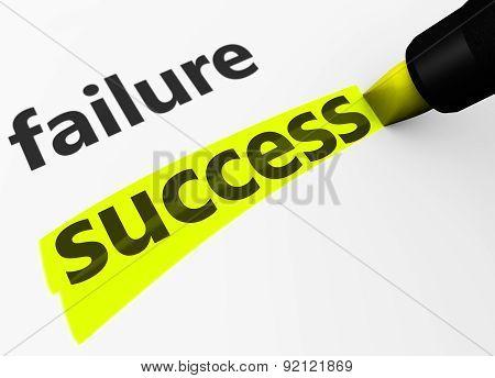 Success Vs Failure Concept