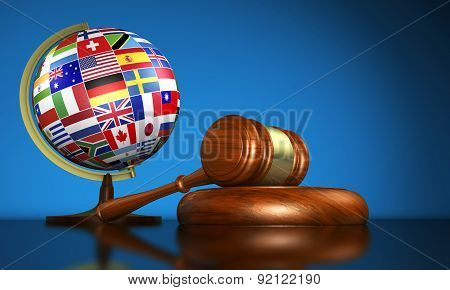 International Law School And Human Rights Concept