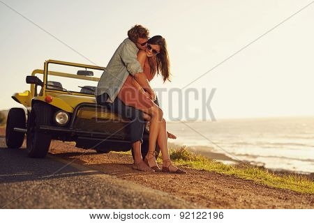 Young Couple In Love Sharing A Special Moment