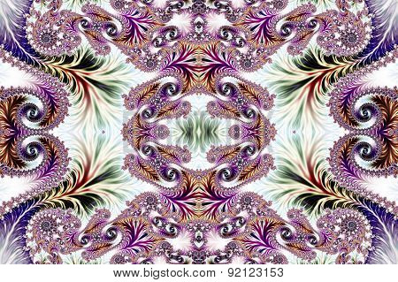 Multicolored Background With Spiral Pattern. Collection - Oriental Tales. Artwork