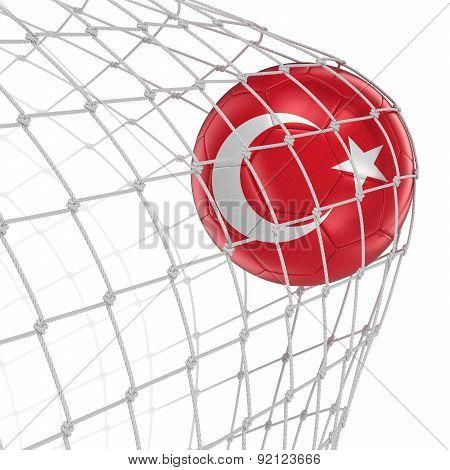 Turkish soccerball in net