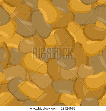 potato pattern. Seamless background with ripe potato
